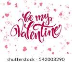 vector hand lettering... | Shutterstock .eps vector #542003290