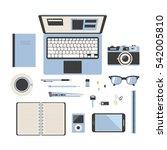 workspace gadgets | Shutterstock .eps vector #542005810