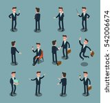set of isometric business people | Shutterstock .eps vector #542006674