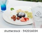 dessert cake sweet tasty... | Shutterstock . vector #542016034