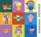 cartoon owl vector isolated   Shutterstock .eps vector #542016619