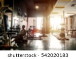 blurred of fitness gym... | Shutterstock . vector #542020183