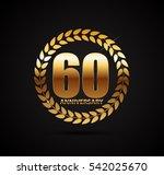 template logo 60 years... | Shutterstock .eps vector #542025670