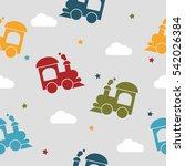 retro kids seamless pattern... | Shutterstock .eps vector #542026384