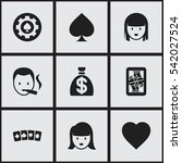 set of 9 editable gambling...
