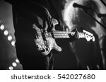 close up photo of electric bass ... | Shutterstock . vector #542027680
