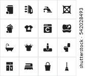 set of 16 editable hygiene...   Shutterstock .eps vector #542028493