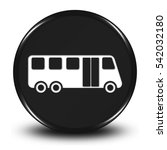 bus service button isolated. ...