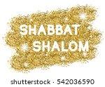 shabbat shalom. white letters...   Shutterstock .eps vector #542036590
