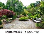 lovely  public spring garden ... | Shutterstock . vector #54203740