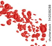 red blood cell flowing in vein... | Shutterstock . vector #542038288