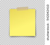 paper sheet on translucent... | Shutterstock .eps vector #542042410