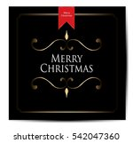 christmas vintage background | Shutterstock .eps vector #542047360