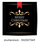 christmas vintage background | Shutterstock .eps vector #542047369