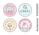 set of badges. bakery  cakes ... | Shutterstock .eps vector #542050099