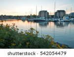 Yachts in a city bay, Thunder Bay, Ontario