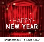 happy new year. open red... | Shutterstock .eps vector #542057260