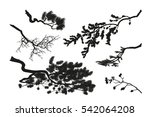the branches of trees. black... | Shutterstock .eps vector #542064208