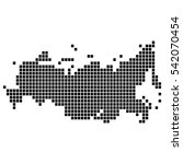 the map of the russian... | Shutterstock .eps vector #542070454