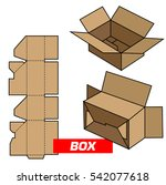 standard box  cutting | Shutterstock .eps vector #542077618
