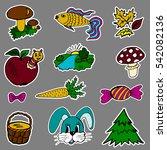 a set of fashion labels  badges.... | Shutterstock .eps vector #542082136