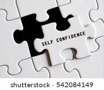 self   confidence text on... | Shutterstock . vector #542084149