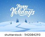 vector illustration  winter... | Shutterstock .eps vector #542084293