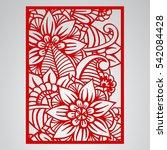 die cut card. laser cut vector... | Shutterstock .eps vector #542084428