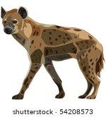 scavenger on the african... | Shutterstock .eps vector #54208573