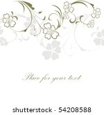 background with flower | Shutterstock .eps vector #54208588