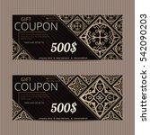 gift voucher in luxury style.... | Shutterstock .eps vector #542090203