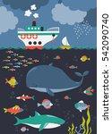 sea life. underwater world | Shutterstock .eps vector #542090740
