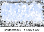 gift boxes and ornaments in... | Shutterstock . vector #542095129
