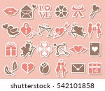 valentine icon set | Shutterstock .eps vector #542101858
