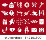 valentine icon set | Shutterstock .eps vector #542101900