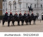 Queen's Guard March On Horses...