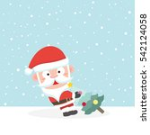 santa in snow. | Shutterstock .eps vector #542124058