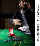 gambling addiction. man in a... | Shutterstock . vector #542124220