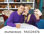 young couple man and woman...   Shutterstock . vector #542124376