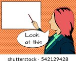 vector instructor. girl... | Shutterstock .eps vector #542129428