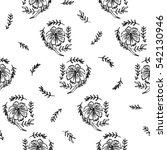 abstract seamless pattern with... | Shutterstock . vector #542130946