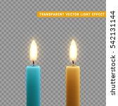 candles burn with fire... | Shutterstock .eps vector #542131144