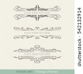 vector set of vintage frames | Shutterstock .eps vector #542132914