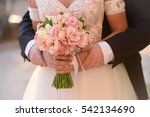 wedding couple enjoying...   Shutterstock . vector #542134690