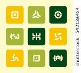 vector flat icons set  ...   Shutterstock .eps vector #542136424