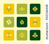 vector flat icons set   plant...   Shutterstock .eps vector #542136448