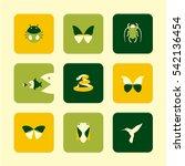 vector flat icons set   animals ...   Shutterstock .eps vector #542136454