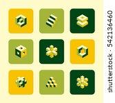 vector flat icons set   cube...   Shutterstock .eps vector #542136460
