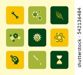 vector flat icons set   science ...   Shutterstock .eps vector #542136484