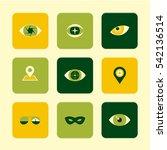 vector flat icons set   eyes...   Shutterstock .eps vector #542136514